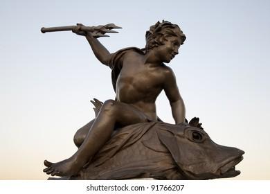 Figure on Pont Alexandre III Bridge, Paris, France