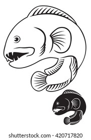 the figure shows a fish wolffish