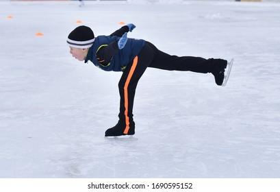 Cielo de patinaje sobre hielo