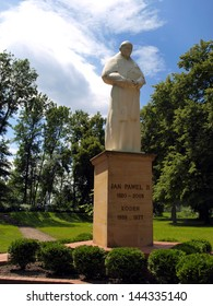 figure, statue of Pope John Paul II at the Shrine of Koden near the Bug River in Poland - Shutterstock ID 144335140