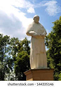 figure, statue of Pope John Paul II at the Shrine of Koden near the Bug River in Poland - Shutterstock ID 144335146