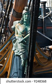 The figurehead from The HMS. Surprise in San Diego, California.