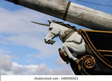 Figurehead of the HMS Unicorn, Dundee, Scotland