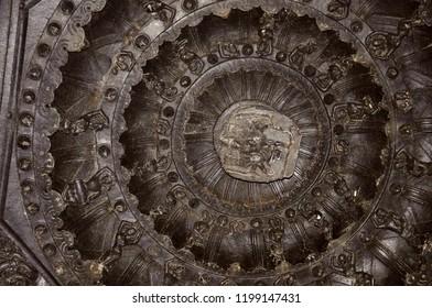Figures on the ceiling, Ramappa temple, Warangal, Telangana India
