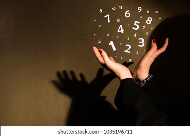 the figures which are taking off from hands, the world of numerology