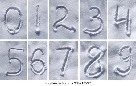 figures written on the snow