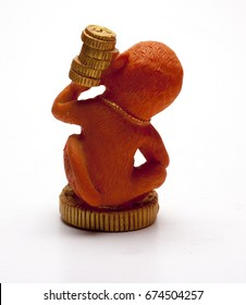 the figurine souvenir on white background/figurine souvenir/isolated objects