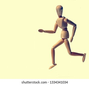Figurine of wood running