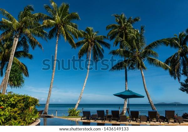 Fiji Islands Tropical Beach Blue Sky Stock Photo Edit Now