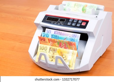 Fijian Dollars in a counting machine