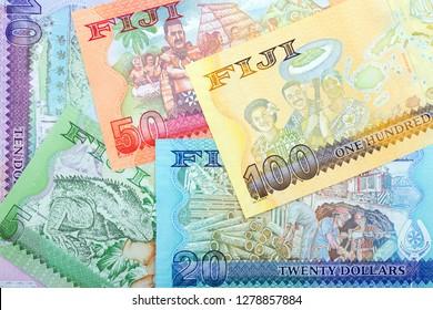 Fijian Dollars - reverse side, a business background