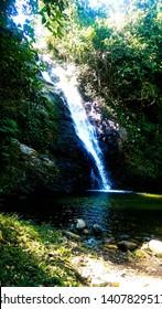 Fijian Waterfall and Lagoon, Nadi, Fiji