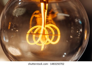 The filament of an incandescent lamp, Detail