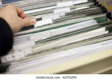 File cabinet with blank file labels ready for your customization