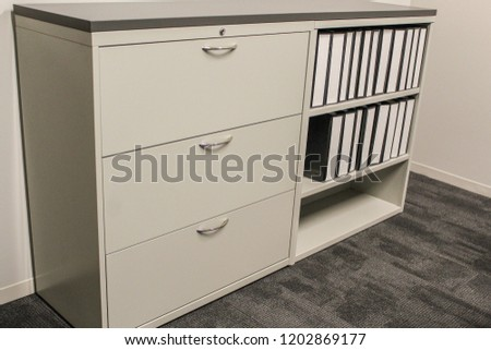 File Cabinet With Bookshelf