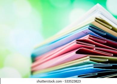 File Folder Against Green Background