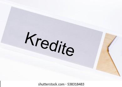 File folder credit (Kredit) in German language