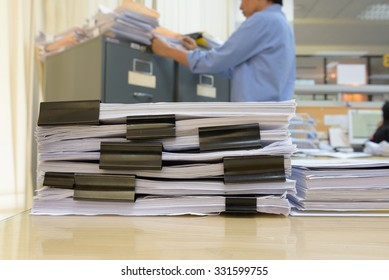 a file folder with documents and important document,Business Concept