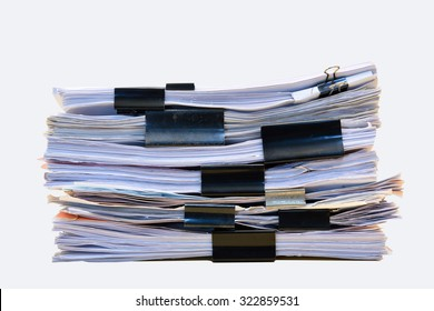 a file folder with documents and important document,isolated Background