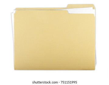 File Folder with Documents, Note and Blank Polaroid