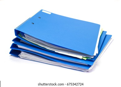 file folder with documents and documents. retention of contracts. isolated white