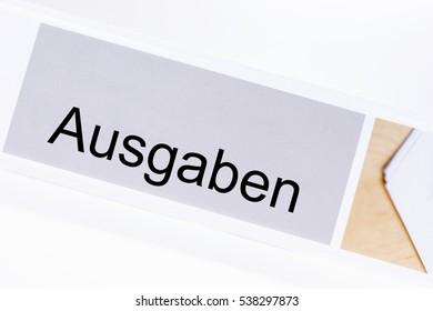 File folder expenditure (Ausgaben) in German language