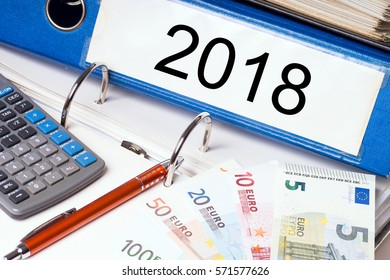 File folder with the year number 2018