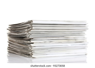File folders on white background