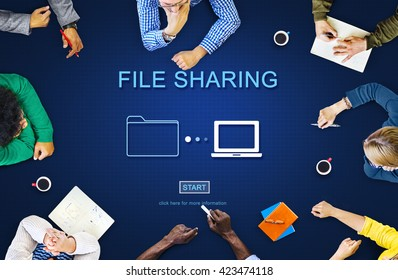 File Sharing Computer Data Digital Document Concept