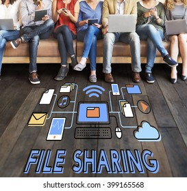 file Sharing Technology Data Transfer Concept