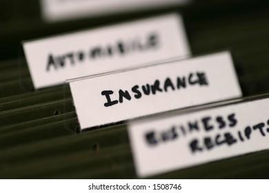 File tab of insurance