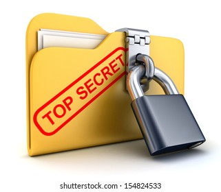 File top secret and lock (done in 3d)