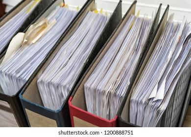 Files folder on desk