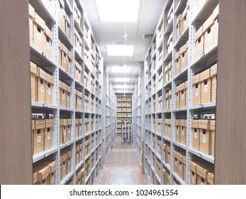 Files storage room.