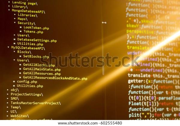 Filesystem Tree Professional Text Editor Javascript Stock