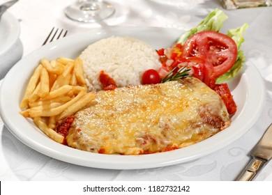 Filet to parmegiana (classic italian dish)