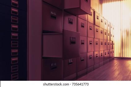 Filing cabinet.