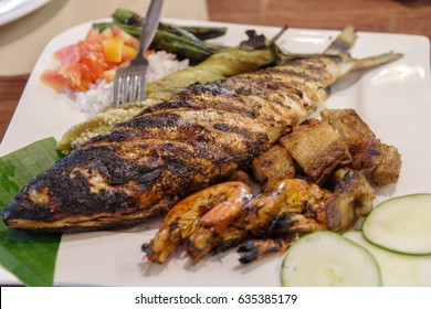 Filipino favorit fish grilled bangus - Milkfish