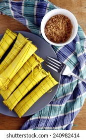 Filipino food delicacy Photo of Filipino food delicacy called suman