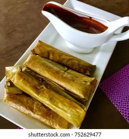 Filipino food Suman