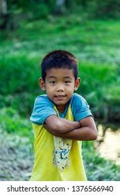Filipino kid portrait. Port Barton, Philippines. January 2, 2019
