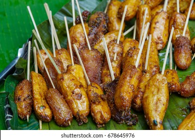 filipino traditional dessert turon - fried banana