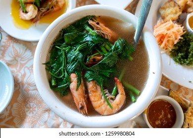 Filipino traditional food - Shrimp Sinigang, Philippines