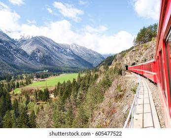 Filisur, Switzerland: The Landwasser Viaduct is a spectacular stone bridge, a 6 string. The construction on the three main pillars was an architectural masterpiece in 1901