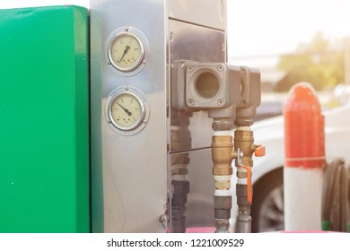 Fill up LPG, CNG, NGV at gas station. Alternative Energy for environmentally friendly future.