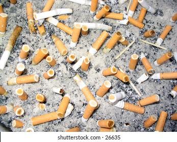 Filled ashtray