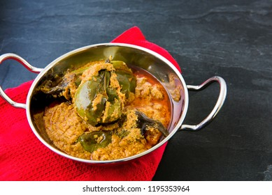 Filled Eggplant curry with Roti