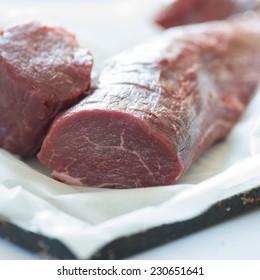 Fillet steak, raw
