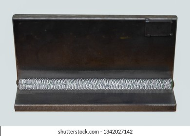 Fillet welded coupon in 3G  uphill welding position or PF, this fillet weld was completed by metal inert gas arc welding (GMAW or MIG). It usual to use PF in welding competition include world skill.