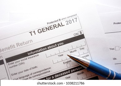 Filling in canadian individual tax form T1 for year 2017